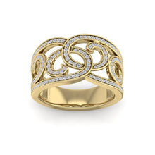 Load image into Gallery viewer, 18Kt gold designer diamond ring by diamtrendz