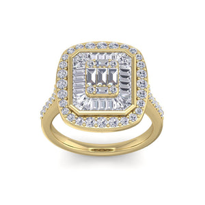 18Kt gold designer solitaire diamond ring by diamtrendz