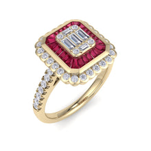 Load image into Gallery viewer, 18Kt gold designer solitaire diamond ring by diamtrendz