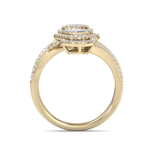 18Kt gold designer diamond ring by diamtrendz