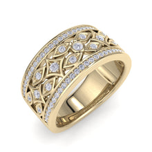 Load image into Gallery viewer, 18Kt gold designer band diamond ring by diamtrendz