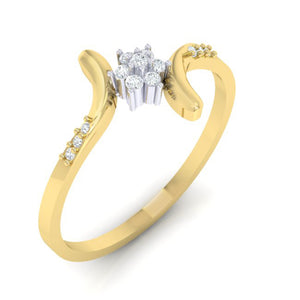 18Kt gold real diamond ring 25(1) by diamtrendz