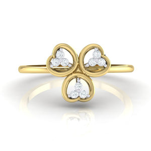 18Kt gold real diamond ring 26(2) by diamtrendz