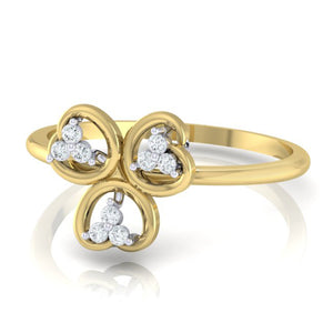 18Kt gold real diamond ring 26(3) by diamtrendz