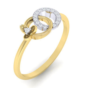 18Kt gold real diamond ring 27(1) by diamtrendz