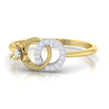 Load image into Gallery viewer, 18Kt gold real diamond ring 27(3) by diamtrendz