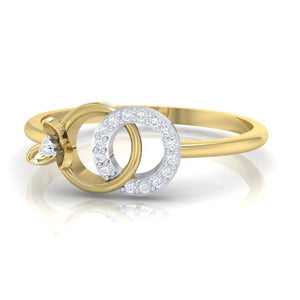 18Kt gold real diamond ring 27(3) by diamtrendz