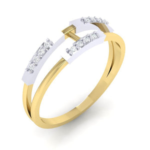 18Kt gold real diamond ring 30(1) by diamtrendz