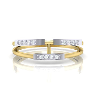 18Kt gold real diamond ring 30(2) by diamtrendz