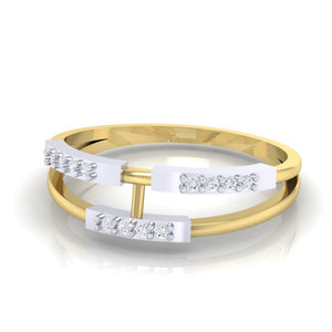 18Kt gold real diamond ring 30(3) by diamtrendz