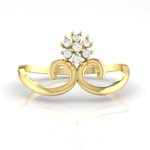 18Kt gold real diamond ring 31(2) by diamtrendz