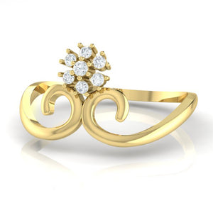 18Kt gold real diamond ring 31(3) by diamtrendz