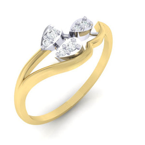 18Kt gold real diamond ring 32(1) by diamtrendz