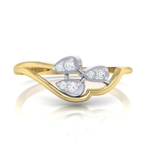 18Kt gold real diamond ring 32(2) by diamtrendz