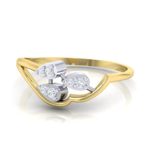 18Kt gold real diamond ring 32(3) by diamtrendz