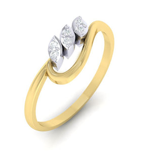 18Kt gold real diamond ring 33(1) by diamtrendz