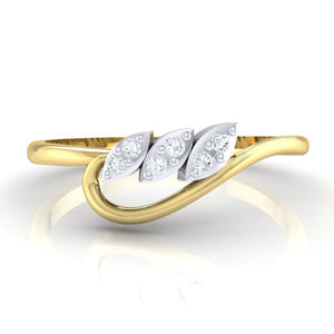 18Kt gold real diamond ring 33(2) by diamtrendz