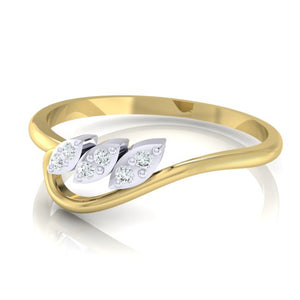 18Kt gold real diamond ring 33(3) by diamtrendz