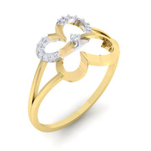 Load image into Gallery viewer, 18Kt gold real diamond ring 34(1) by diamtrendz