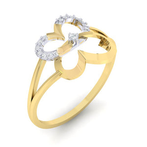 18Kt gold real diamond ring 34(1) by diamtrendz
