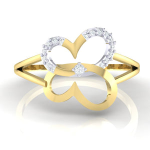 18Kt gold real diamond ring 34(2) by diamtrendz