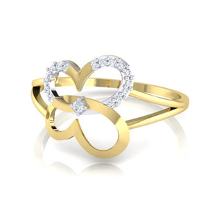 18Kt gold real diamond ring 34(3) by diamtrendz