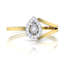 Load image into Gallery viewer, 18Kt gold real diamond ring 35(2) by diamtrendz