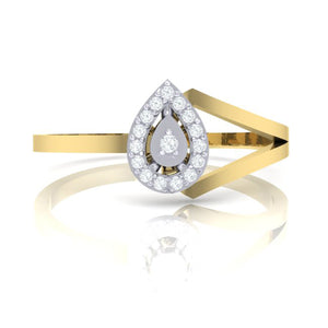 18Kt gold real diamond ring 35(2) by diamtrendz