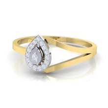 Load image into Gallery viewer, 18Kt gold real diamond ring 35(3) by diamtrendz