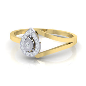 18Kt gold real diamond ring 35(3) by diamtrendz