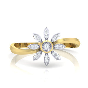 18Kt gold real diamond ring 36(2) by diamtrendz