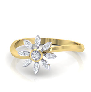 18Kt gold real diamond ring 36(3) by diamtrendz