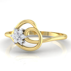 18Kt gold real diamond ring 37(3) by diamtrendz