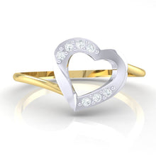 Load image into Gallery viewer, 18Kt gold real diamond ring 38(2) by diamtrendz
