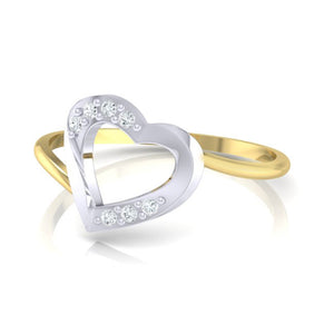 18Kt gold real diamond ring 38(3) by diamtrendz