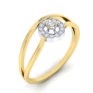 18Kt gold real diamond ring 39(1) by diamtrendz