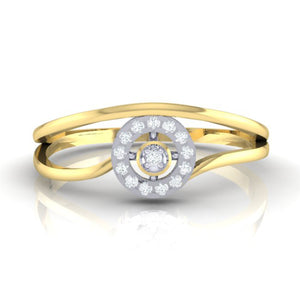 18Kt gold real diamond ring 39(2) by diamtrendz