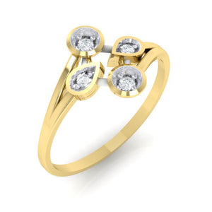 18Kt gold real diamond ring 40(1) by diamtrendz