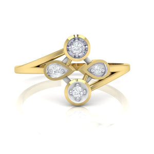 18Kt gold real diamond ring 40(2) by diamtrendz