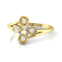 Load image into Gallery viewer, 18Kt gold real diamond ring 40(3) by diamtrendz