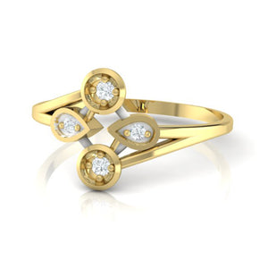 18Kt gold real diamond ring 40(3) by diamtrendz