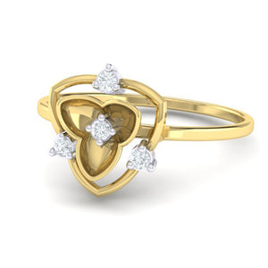 18Kt gold real diamond ring 41(3) by diamtrendz