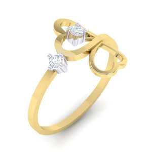 18Kt gold real diamond ring 42(1) by diamtrendz