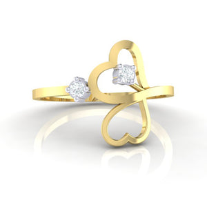 18Kt gold real diamond ring 42(2) by diamtrendz