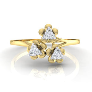 18Kt gold real diamond ring 43(2) by diamtrendz
