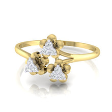 Load image into Gallery viewer, 18Kt gold real diamond ring 43(3) by diamtrendz
