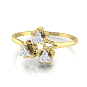 18Kt gold real diamond ring 43(3) by diamtrendz
