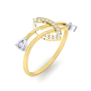 18Kt gold real diamond ring 44(1) by diamtrendz