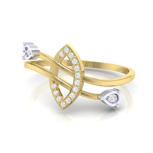 18Kt gold real diamond ring 44(3) by diamtrendz