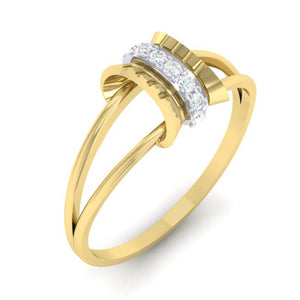 18Kt gold real diamond ring 45(1) by diamtrendz
